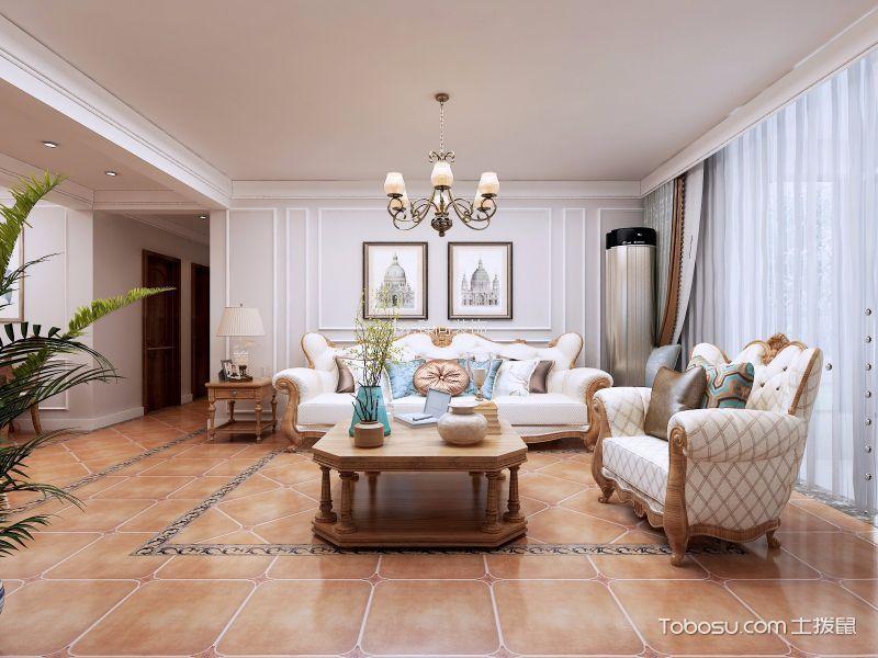 瀚唐140平美式风格三室装修效果图