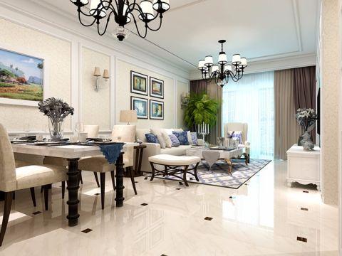 佳源巴黎都市现代风格三居室装修效果图