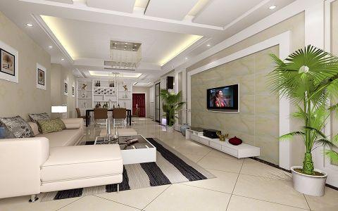 京华城怡景苑 120平米简约风格3居室装修效果图