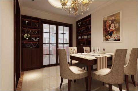餐厅博古架简欧风格装饰设计图片