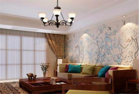 贵安新天地74平米新中式二居室装修效果图