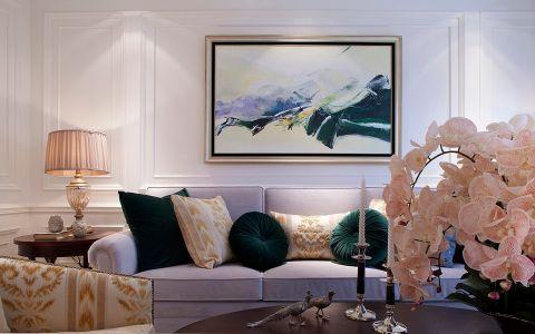 金新御园130平美式风格三居室装修效果图