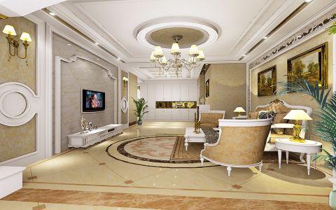 中海玺园126平米 简欧风格三居室装修效果图
