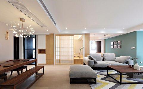 玫瑰绅城100平现代简约风格三居室装修效果图