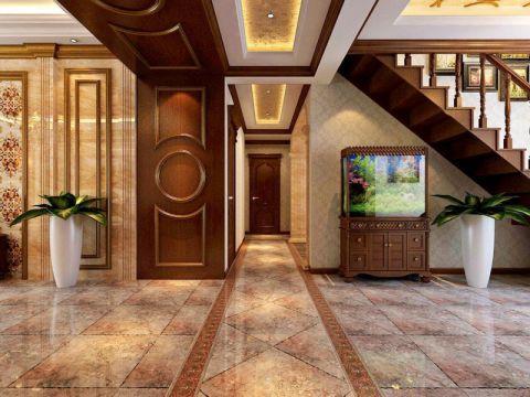 玄关博古架美式风格装修设计图片
