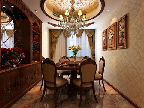 餐厅隐形门美式风格装饰设计图片