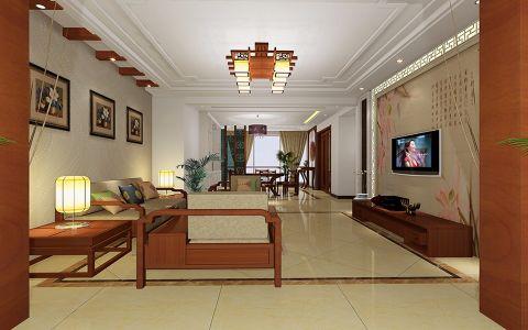 客厅细节中式风格装潢效果图