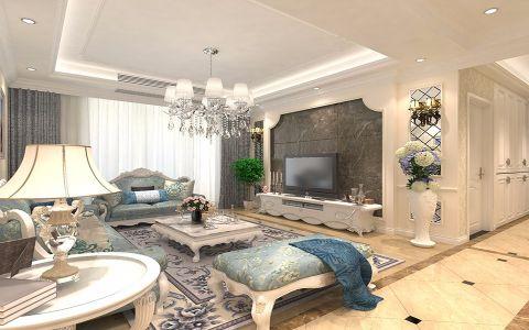 景瑞望府116平米欧式风格3居室装修效果图