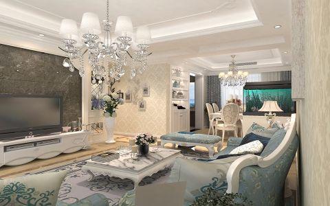 客厅细节欧式风格效果图