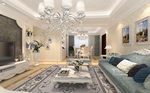 客厅细节欧式风格装修效果图