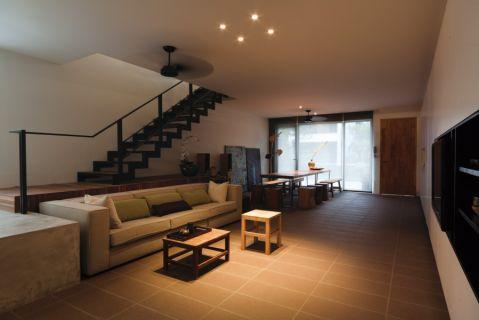 客厅楼梯现代简约风格装潢图片