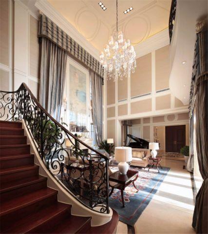 客厅楼梯简欧风格装饰设计图片