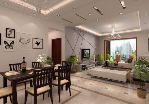 华治向阳里92平米现代简约三居室装修效果图
