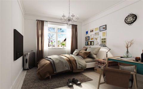 卧室照片墙新中式风格装潢设计图片