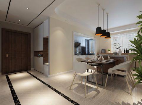 鹿港嘉苑小区145平米现代简约风格三室两厅一厨两卫装修效果图