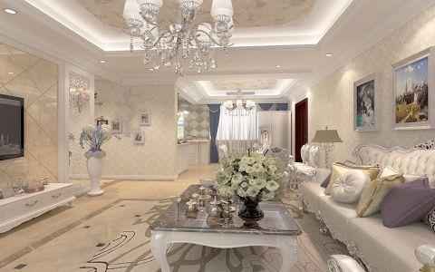 客厅细节欧式风格装潢效果图