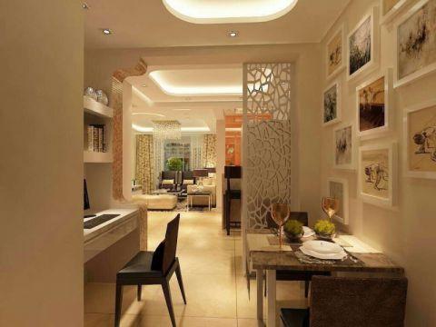 餐厅照片墙欧式风格装修设计图片