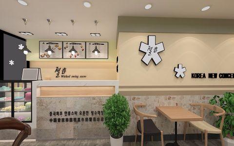 18万雪恋国庆路120平米简约风格饮品店装修效果图