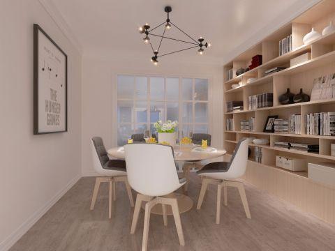 北欧风格180平米三室两厅新房装修效果图