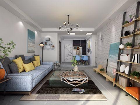 客厅吊顶北欧风格装潢设计图片