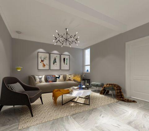 北欧风格144平米三室两厅新房装修效果图