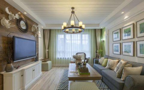 德水香林1oo平美式风格两居室装修效果图
