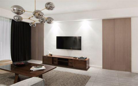 北欧风格95平米两室两厅新房装修效果图