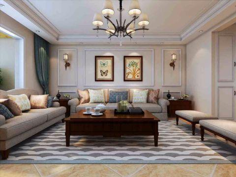 北城国际美式洋房160平三居室装修效果图