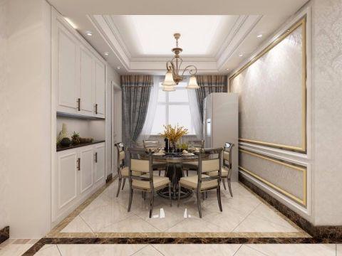 餐厅细节简欧风格装潢设计图片