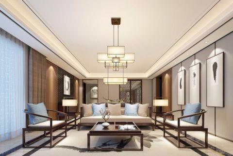 保利城156新中式风格四居室装修效果图