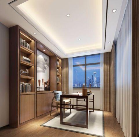 书房细节新中式风格装潢设计图片