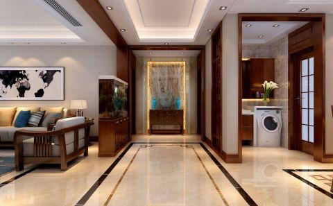 玄关门厅新中式风格装潢图片