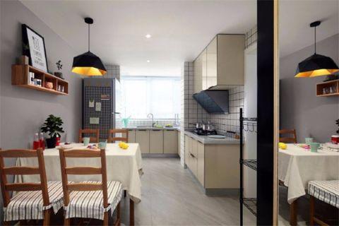 厨房背景墙现代简约风格装修设计图片