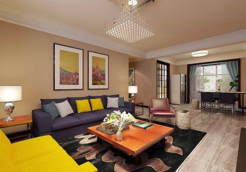 现代简约风格139平米三室两厅新房装修效果图
