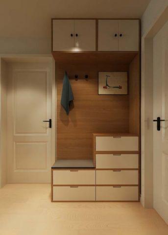 玄关橱柜北欧风格装潢设计图片