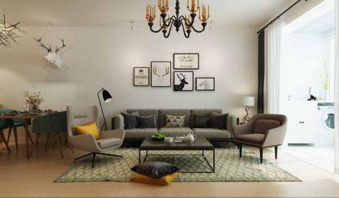 客厅背景墙北欧风格装饰效果图