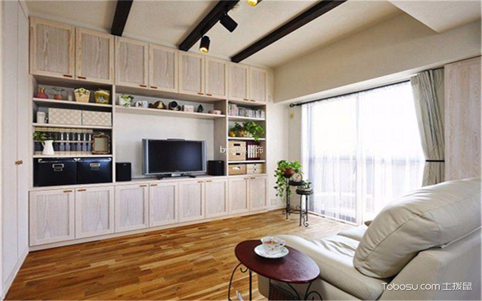 燕江园小区53平米日式2室1厅1卫装修效果图