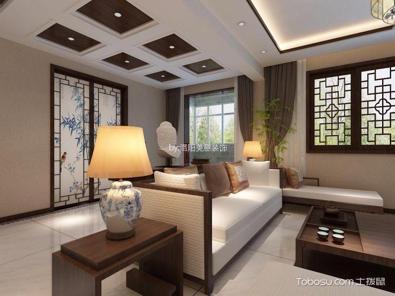 洛阳120平中式风格三居室装修效果图