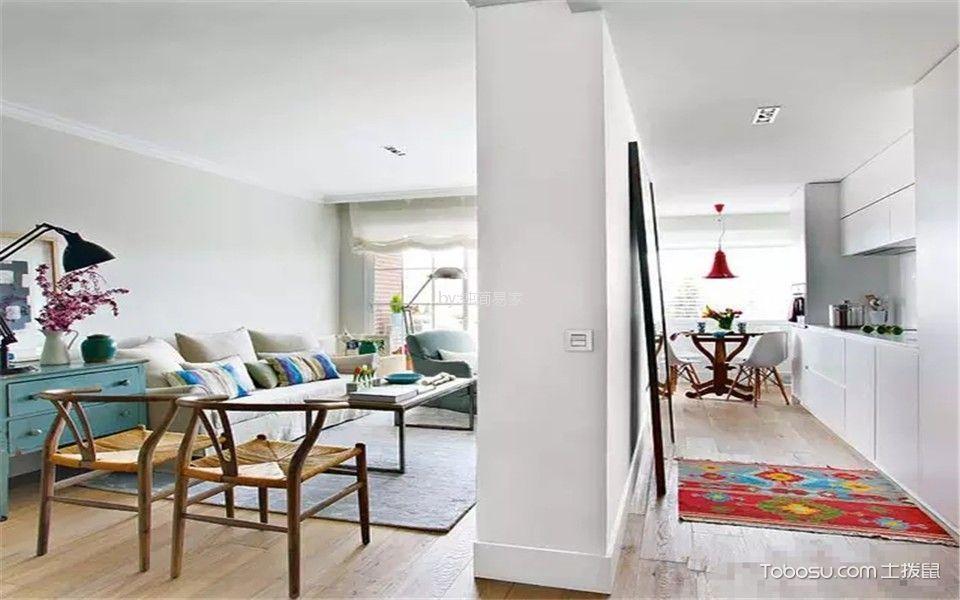 混搭风格80平米两室两厅新房装修效果图