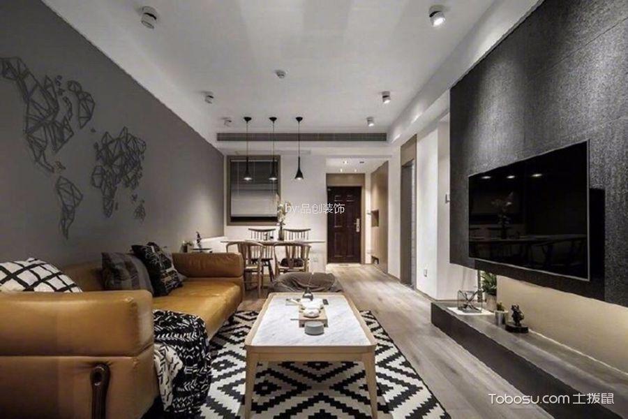 金地格林84m²现代简约风格二居室装修效果图