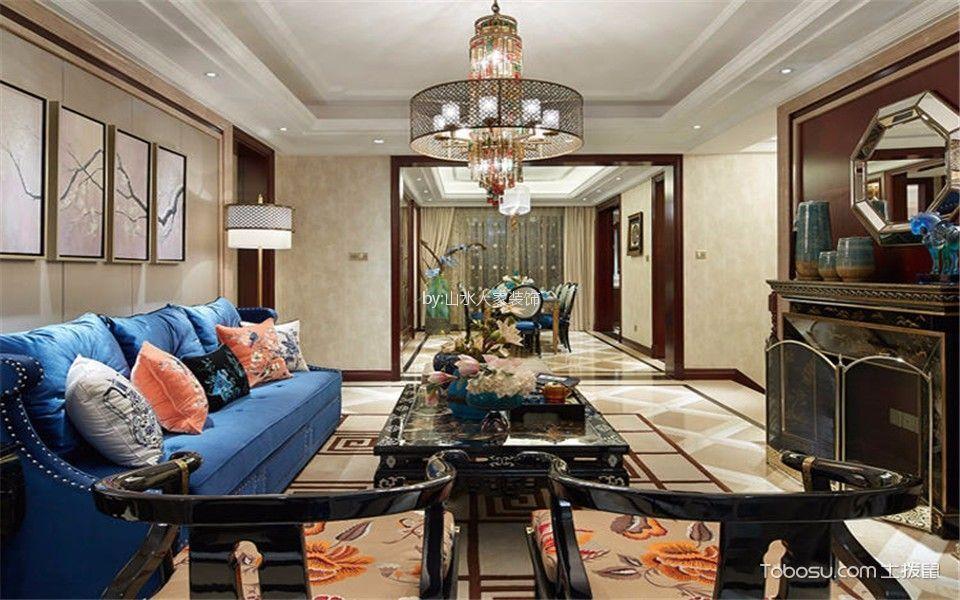 古典风格206平米大户型室内装修效果图