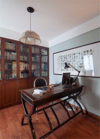 书房背景墙简约风格装饰设计图片