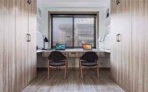 书房窗帘北欧风格装修效果图