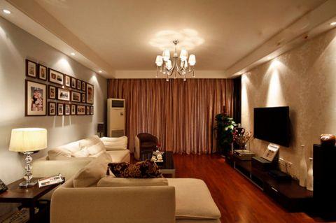 香源公寓95方简约欧式风格两居装修效果图