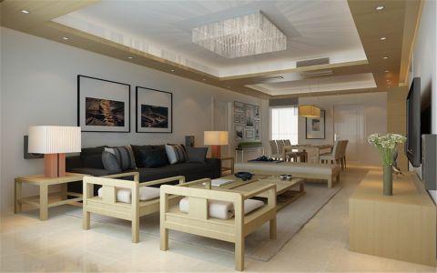 金科廊桥水岸70平日式风格二居室装修效果图