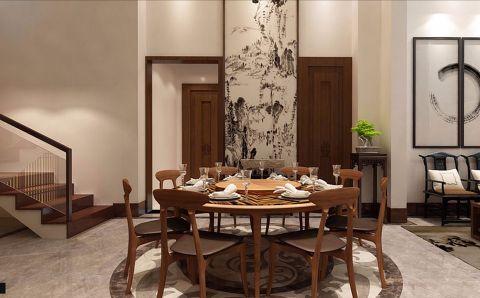 餐厅隔断新中式风格装饰效果图