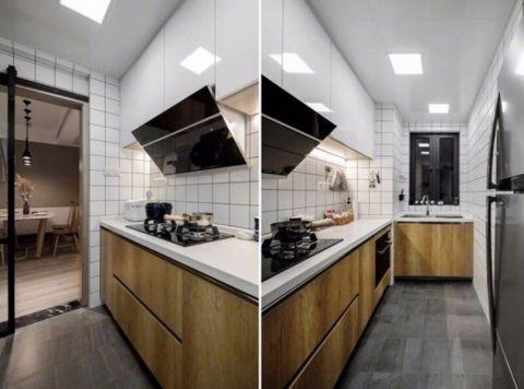 厨房推拉门现代风格装潢设计图片