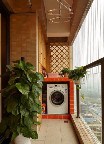 阳台地砖混搭风格装饰图片