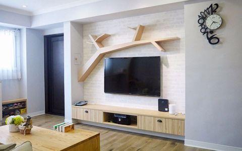 客厅电视柜简欧风格装潢效果图