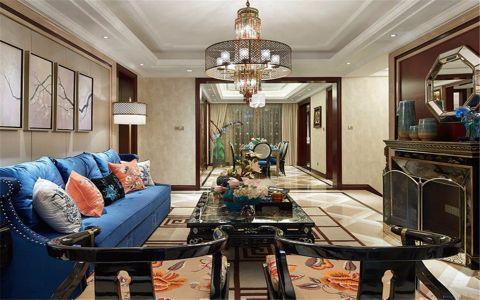 都会轩206平中式古典五居室装修效果图